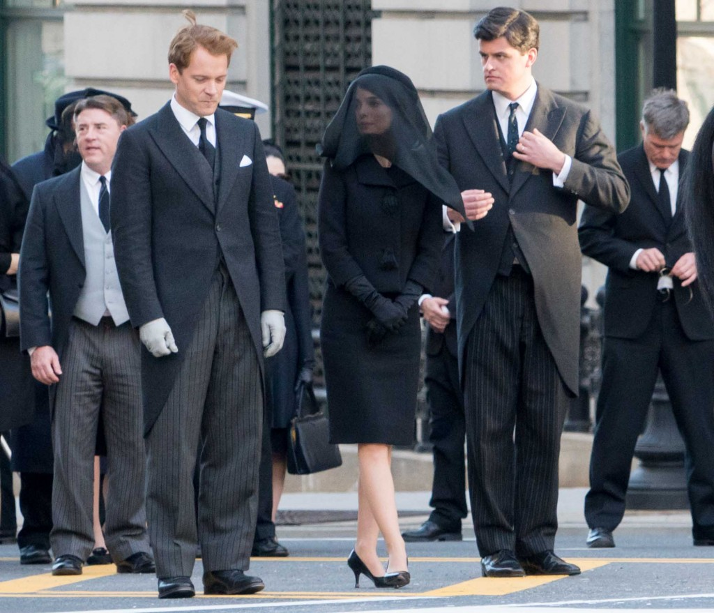 Jackie and Robert Kennedy in the funeral procession