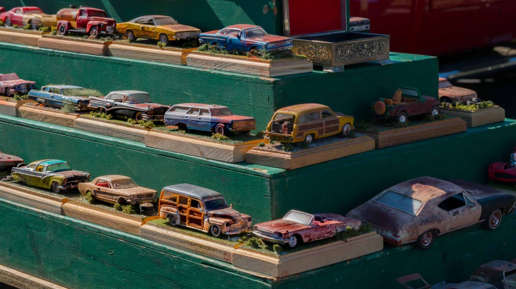 Vintage car models