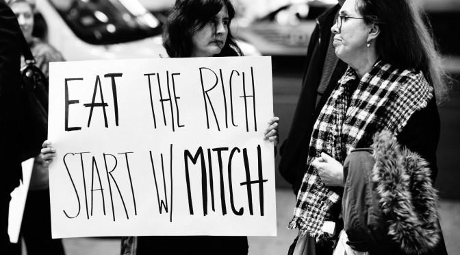 Republican Fund Raiser protest